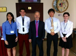 With the FOBISIA Student Delegates from the British International School Ho Chi Minh
